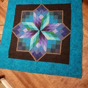 handmade Bedding - Hand pieced Quilt/Throw, nice bright colors